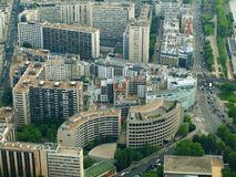 Paris city aerial view from Eiffel tower Stock Image