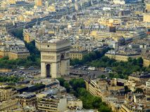 Paris city aerial view from Eiffel tower Royalty Free Stock Photos