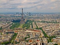 Paris city aerial view from Montparnasse tower. Stock Image
