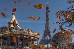 Paris city in autumn royalty free stock photo