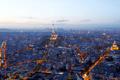 Paris city center. An overview of Paris city center Royalty Free Stock Photography