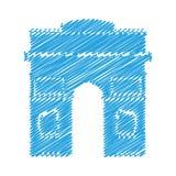 Paris city design. Arc de triomphe building icon over white background. paris city design. vector illustration stock illustration