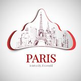 Paris city emblem Royalty Free Stock Photos