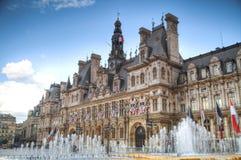 Paris City Hall (Hotel de Ville) Royalty Free Stock Images