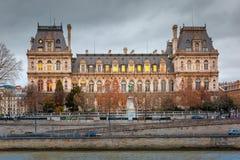 Paris City Hall, Hotel de Ville, in winter Stock Image