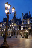 Paris City Hall illuminated at night 1 Royalty Free Stock Photography
