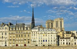 Paris, city island and Notre-Dame architecture Royalty Free Stock Image