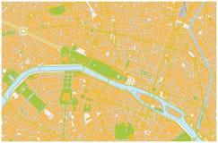 Paris city map Stock Photos