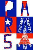 Paris City, Modern T-shirt Typography Graphics, Vector Illustrat Royalty Free Stock Photography