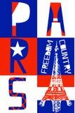 Paris City, Modern T-shirt Typography Graphics, Vector Illustrat Royalty Free Stock Photography