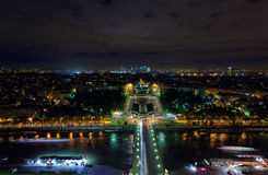 Paris City Night View Royalty Free Stock Images