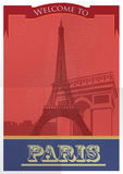 Paris City old style Poster Design. Vector Royalty Free Stock Photos