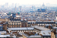 Paris city with Pantheon, France Stock Image