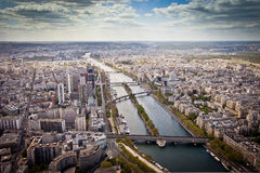 Paris city scape. Photo taken over Paris from the Eiffel tower Stock Image