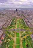 Paris city seen from above. France Stock Photos