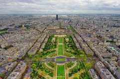 Paris city seen from above. Eiffel Tower view Stock Images
