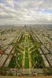 Paris city seen from above. Eiffel Tower view Royalty Free Stock Images
