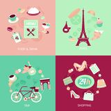 Paris city set Royalty Free Stock Photo