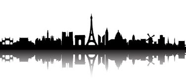 Paris city silhouette -. Stock stock illustration