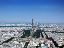 Paris city by sky Royalty Free Stock Photography