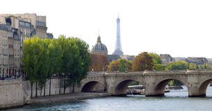 Paris city skyline autumn Royalty Free Stock Photos