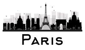 Paris City skyline black and white silhouette Stock Image