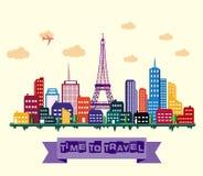 Paris city skyline. Illustration of Paris city skyline vector illustration
