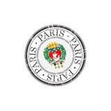 Paris city stamp Royalty Free Stock Photo