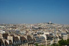 Paris city view. With the sacre coeur Stock Images