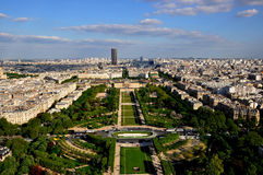 Paris City View. Aerial view of Paris city from Eiffel Tower, Paris France Royalty Free Stock Images