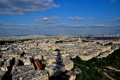 Paris City View. Aerial view of Paris city from Eiffel Tower, Paris France Royalty Free Stock Image