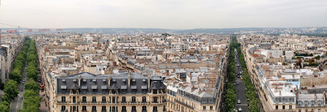 Paris city view from Arc de triomphe Royalty Free Stock Photo