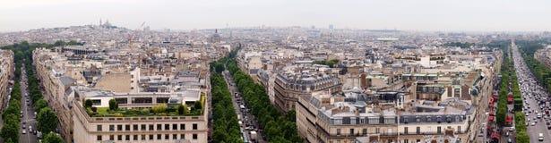 Paris city view from Arc de triomphe. Paris city panoramic view from Arc de triomphe Stock Images