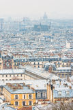 Paris city view from The Basilica of the Sacred Heart Stock Photos