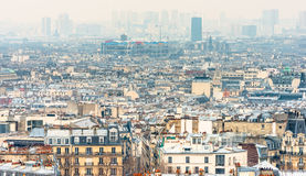 Paris city view from The Basilica of the Sacred Heart Royalty Free Stock Images