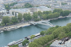 Paris City View. City view of beautiful day from Eiffel Tower Royalty Free Stock Photos