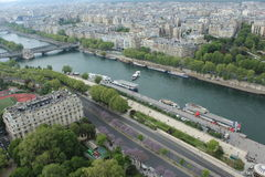 Paris City View. City view of beautiful day from Eiffel Tower Stock Images