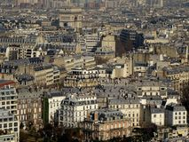 Paris City View. A beautiful view of prestigious suburbs of with Paris alone, mostly, the Arc de Triomphe Royalty Free Stock Photo