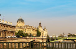 Paris city view with bridges and concierge Stock Image