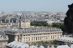 Paris city. View from cathedral Notre Dame , France Royalty Free Stock Images