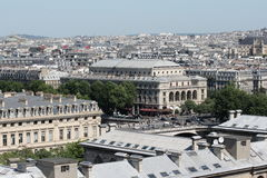 Paris city. View from cathedral Notre Dame , France Stock Image