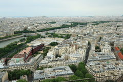 Paris city. View from cathedral Notre Dame , France Royalty Free Stock Photos