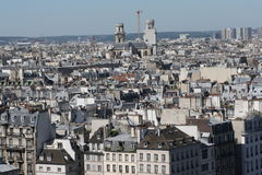 Paris city. View from cathedral Notre Dame , France Royalty Free Stock Image
