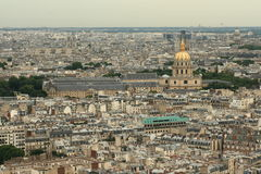 Paris city. View from cathedral Notre Dame , France Royalty Free Stock Photography