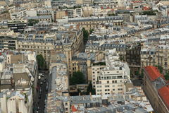 Paris city. View from cathedral Notre Dame , France Stock Images