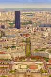 Paris city view from Eiffel Tower Royalty Free Stock Photos