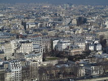 Paris City View #6. Great view from the center of Paris with its buildings and hausmaniens, top center, the Arc de Triomphe Royalty Free Stock Photography