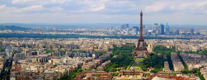 Paris city view from Montparnase tower. France Royalty Free Stock Image