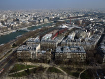 Paris City View #5. Nice view of the Seine and Paris Royalty Free Stock Photography