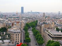 Paris city. View to the Montparnasse tower. Paris old city view to the Montparnasse tower Stock Images